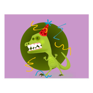 Dino Felsen - Dinosaurier-Geburtstags-Party Postkarte