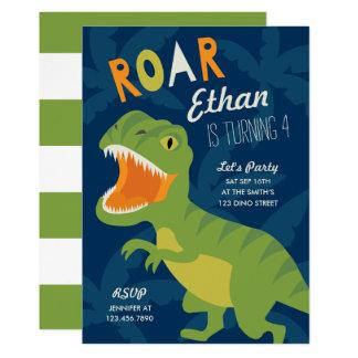 Dino-Geburtstags-Party laden ein Karte