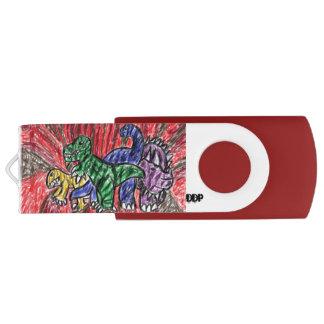 Dino-Kunst USB Stick