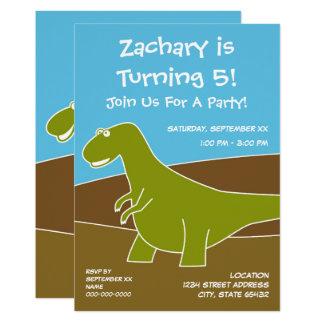 Dinosaurier-Geburtstags-Party-Thema Karte