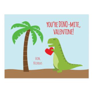 Dinosaurier-Klassen-Valentinsgrüße - T-Rex Postkarte