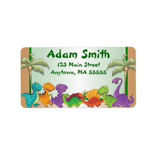 Dinosaurier scherzt Adressen-Etiketten Adress Aufkleber