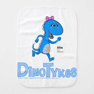 Dinotykes Allie ist ein Allosaurus. Burp-Stoff Spucktuch