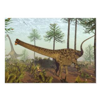 Diplodocusdinosaurier unter Araukarienbäumen - 3D Karte