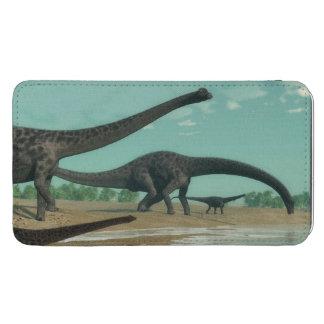 Diplodocusdinosaurierherde - 3D übertragen Handytasche