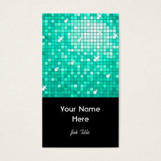 Disco deckt Aqua-Visitenkarteschwarzporträt mit Visitenkarte