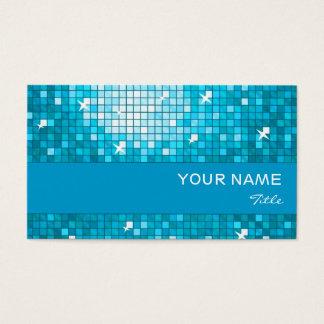 Disco deckt blauen Streifen der blauen Visitenkarte