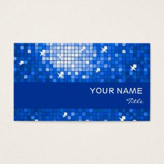 Disco deckt blauen Streifen der dunkelblauen Visitenkarte