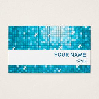 Disco deckt blauen Visitenkarteweißstreifen mit Visitenkarte