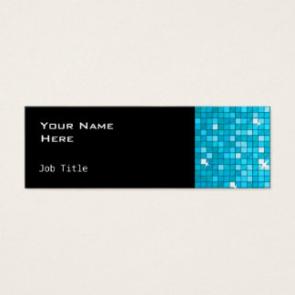 Disco deckt blaues dünnes Seitenschwarzes mit Mini Visitenkarte