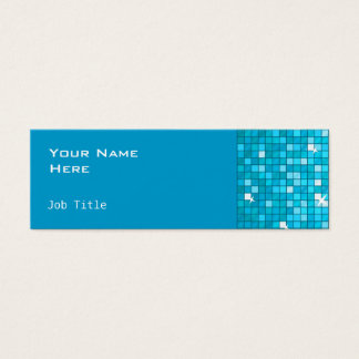 Disco deckt blaues Seitendünnes mit Ziegeln Mini Visitenkarte