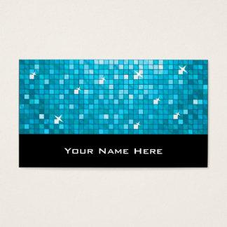 Disco deckt blaues Visitenkarteschwarzes mit Visitenkarte
