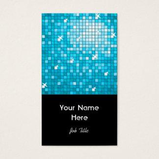 Disco deckt blaues Visitenkarteschwarzporträt mit Visitenkarte