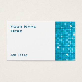 Disco deckt blaues Visitenkarteseitenweiß mit Visitenkarte