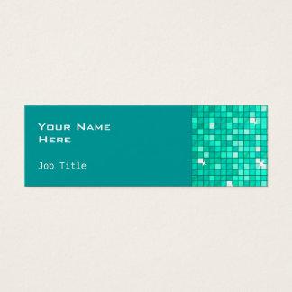 Disco deckt die dünne Aqua-Visitenkarteseite mit Mini Visitenkarte