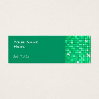 Disco deckt die dünne Jade-Visitenkarteseite mit Mini Visitenkarte