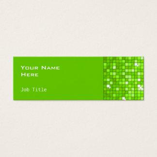 Disco deckt die grüne dünne Visitenkarteseite mit Mini Visitenkarte