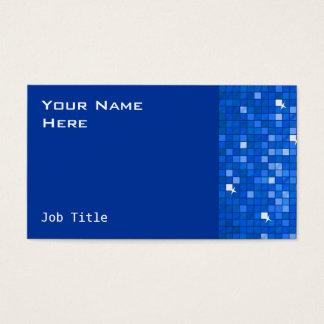 Disco deckt dunkelblaue Visitenkarteseite mit Visitenkarte