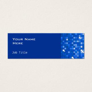 Disco deckt dunkelblaues Seitendünnes mit Ziegeln Mini Visitenkarte