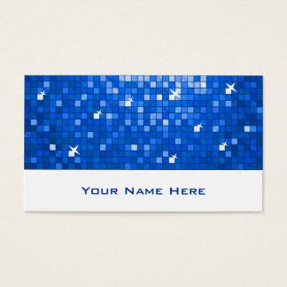 Disco deckt dunkelblaues Visitenkarteweiß mit Visitenkarte
