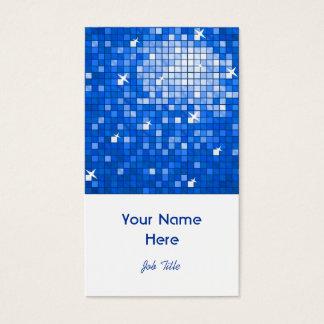 Disco deckt dunkelblaues Visitenkarteweißporträt Visitenkarte