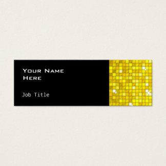 Disco deckt dünnes Schwarzes der gelben Mini Visitenkarte