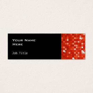 Disco deckt dünnes Schwarzes der roten Mini Visitenkarte