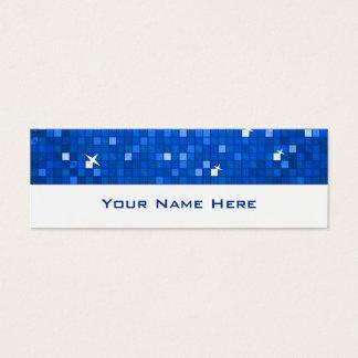 Disco deckt dünnes Weiß der dunkelblauen Mini Visitenkarte
