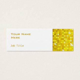 Disco deckt dünnes Weiß der gelben Mini Visitenkarte