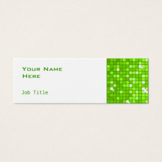 Disco deckt dünnes Weiß der grünen Mini Visitenkarte
