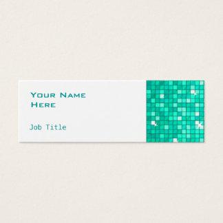 Disco deckt dünnes Weiß der Mini Visitenkarte