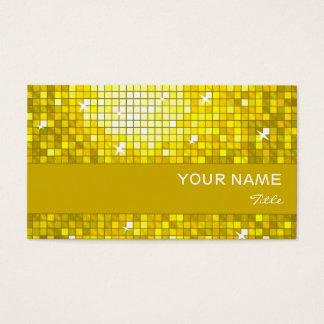 Disco deckt gelben Visitenkartegelbstreifen mit Visitenkarte