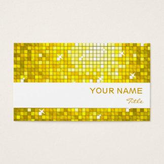 Disco deckt gelben Visitenkarteweißstreifen mit Visitenkarte