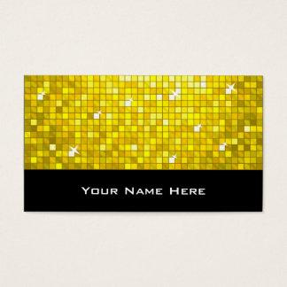 Disco deckt gelbes Visitenkarteschwarzes mit Visitenkarte