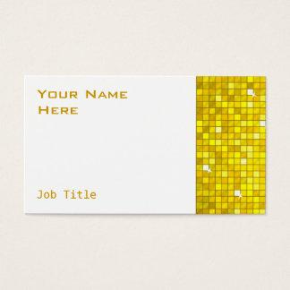 Disco deckt gelbes Visitenkarteseitenweiß mit Visitenkarte