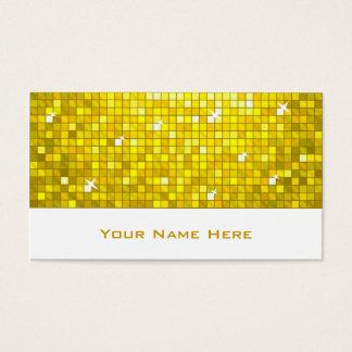 Disco deckt gelbes Visitenkarteweiß mit Ziegeln Visitenkarte