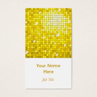 Disco deckt gelbes Visitenkarteweißporträt mit Visitenkarte