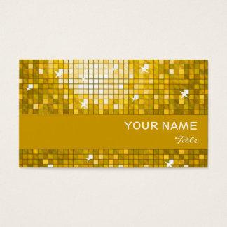 """Disco deckt """"Gold"""" Visitenkarte-Goldstreifen mit Visitenkarte"""