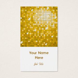 """Disco deckt """"Gold"""" Visitenkarte-Weißporträt mit Visitenkarte"""