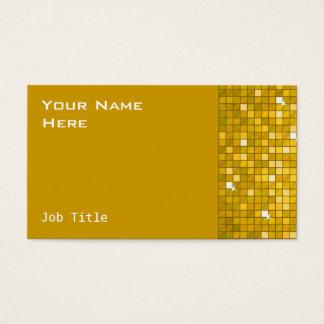 """Disco deckt """"Gold"""" Visitenkarteseite mit Ziegeln Visitenkarte"""