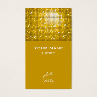 "Disco deckt ""Gold"" Visitenkartespitze mit Ziegeln Visitenkarte"