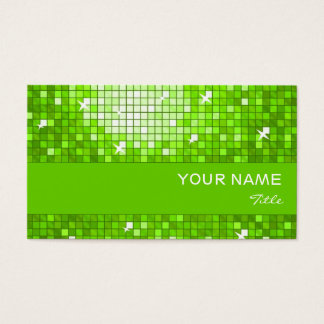 Disco deckt grünen Visitenkartegrünstreifen mit Visitenkarte