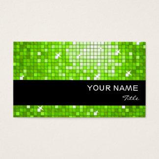 Disco deckt grünen Visitenkarteschwarzstreifen mit Visitenkarte