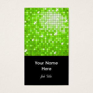Disco deckt grünes Visitenkarteschwarzporträt mit Visitenkarte