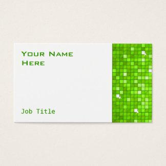 Disco deckt grünes Visitenkarteseitenweiß mit Visitenkarte