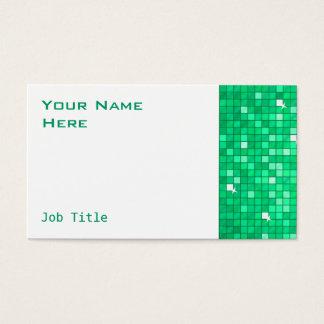 Disco deckt Jade-Visitenkarte-Seitenweiß mit Visitenkarte