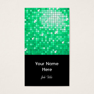 Disco deckt Jade-Visitenkarteschwarzporträt mit Visitenkarte