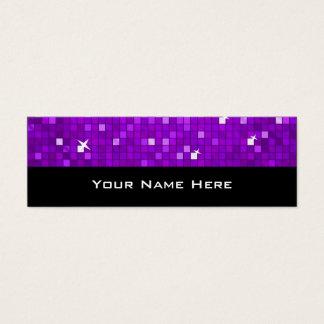 Disco deckt lila dünnes Schwarzes der Mini Visitenkarte