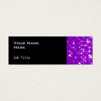 Disco deckt lila dünnes Seitenschwarzes mit Mini Visitenkarte