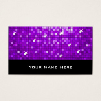 Disco deckt lila Geschäftskartenschwarzes mit Visitenkarte